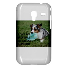 Blue Merle Miniature American Shepherd Love W Pic Samsung Galaxy Ace Plus S7500 Hardshell Case