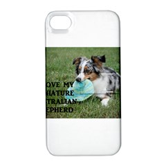 Blue Merle Miniature American Shepherd Love W Pic Apple iPhone 4/4S Hardshell Case with Stand