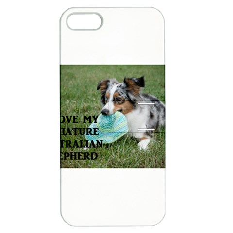 Blue Merle Miniature American Shepherd Love W Pic Apple iPhone 5 Hardshell Case with Stand