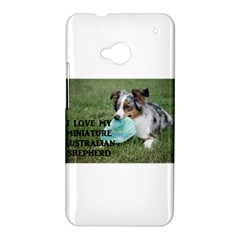 Blue Merle Miniature American Shepherd Love W Pic HTC One M7 Hardshell Case
