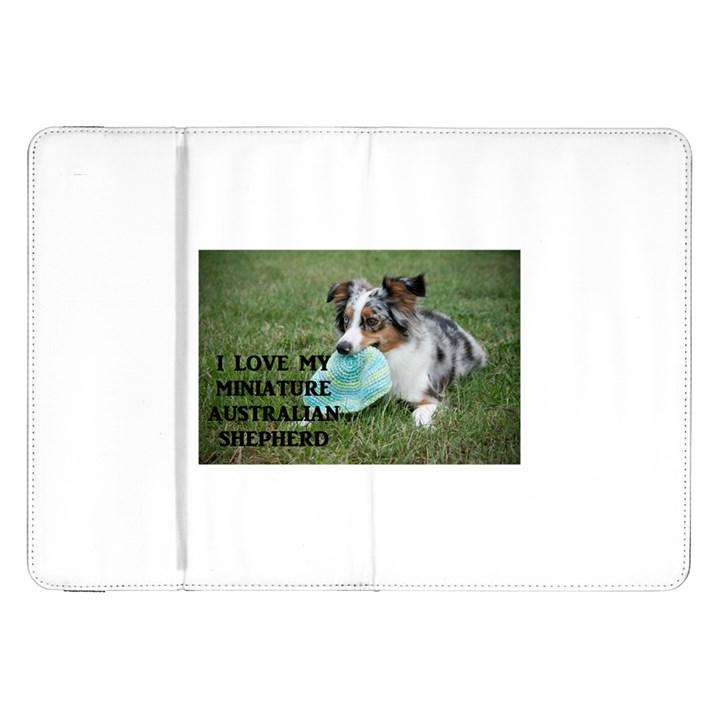 Blue Merle Miniature American Shepherd Love W Pic Samsung Galaxy Tab 8.9  P7300 Flip Case