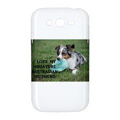 Blue Merle Miniature American Shepherd Love W Pic Samsung Galaxy Grand DUOS I9082 Hardshell Case