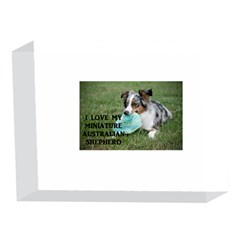 Blue Merle Miniature American Shepherd Love W Pic 5 x 7  Acrylic Photo Blocks