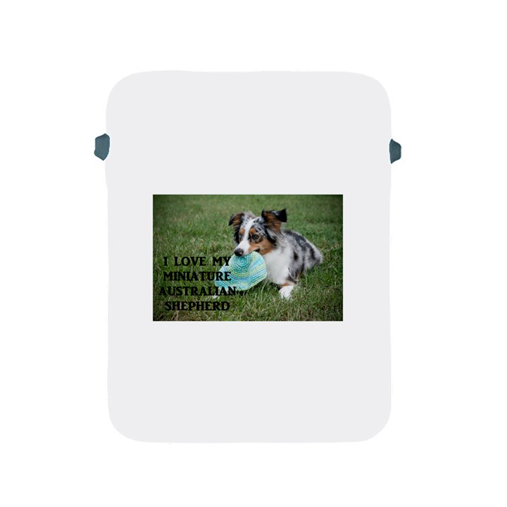 Blue Merle Miniature American Shepherd Love W Pic Apple iPad 2/3/4 Protective Soft Cases