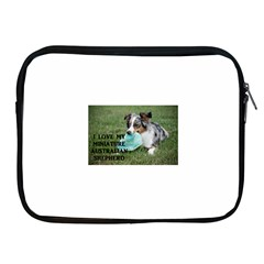 Blue Merle Miniature American Shepherd Love W Pic Apple iPad 2/3/4 Zipper Cases