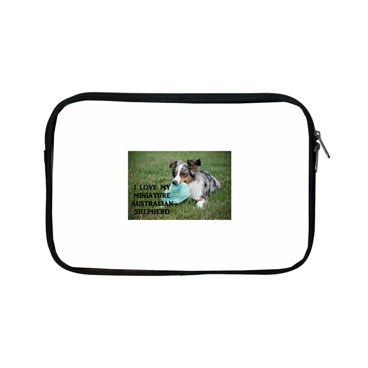 Blue Merle Miniature American Shepherd Love W Pic Apple iPad Mini Zipper Cases