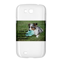 Blue Merle Miniature American Shepherd Love W Pic Samsung Galaxy Grand GT-I9128 Hardshell Case