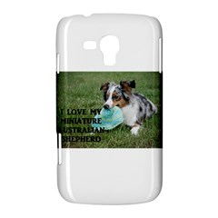 Blue Merle Miniature American Shepherd Love W Pic Samsung Galaxy Duos I8262 Hardshell Case