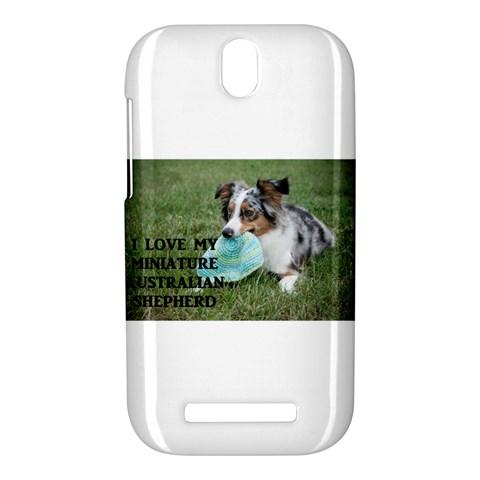 Blue Merle Miniature American Shepherd Love W Pic HTC One SV Hardshell Case