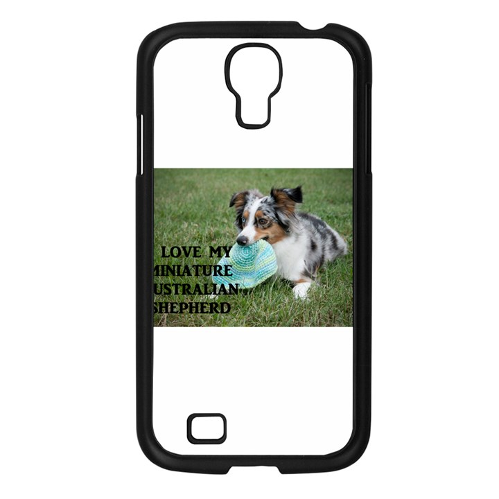 Blue Merle Miniature American Shepherd Love W Pic Samsung Galaxy S4 I9500/ I9505 Case (Black)
