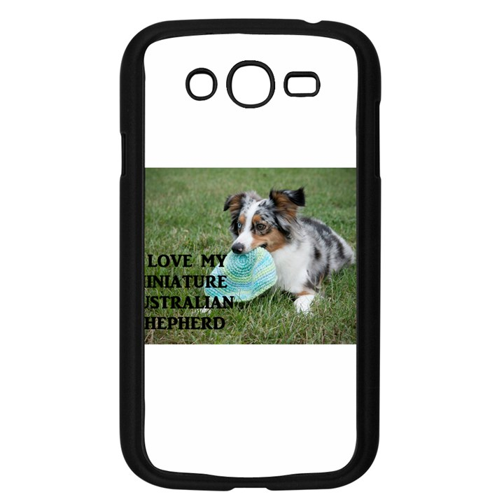 Blue Merle Miniature American Shepherd Love W Pic Samsung Galaxy Grand DUOS I9082 Case (Black)