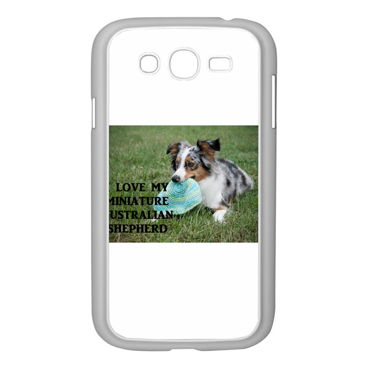 Blue Merle Miniature American Shepherd Love W Pic Samsung Galaxy Grand DUOS I9082 Case (White)