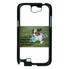 Blue Merle Miniature American Shepherd Love W Pic Samsung Galaxy Note 2 Case (Black)