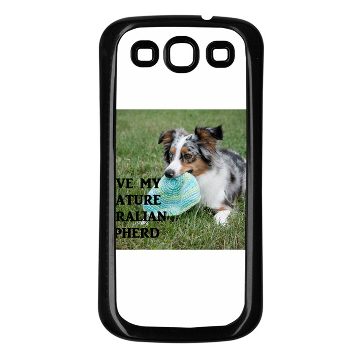 Blue Merle Miniature American Shepherd Love W Pic Samsung Galaxy S3 Back Case (Black)