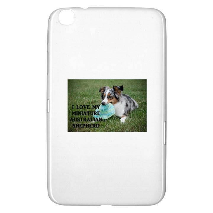 Blue Merle Miniature American Shepherd Love W Pic Samsung Galaxy Tab 3 (8 ) T3100 Hardshell Case