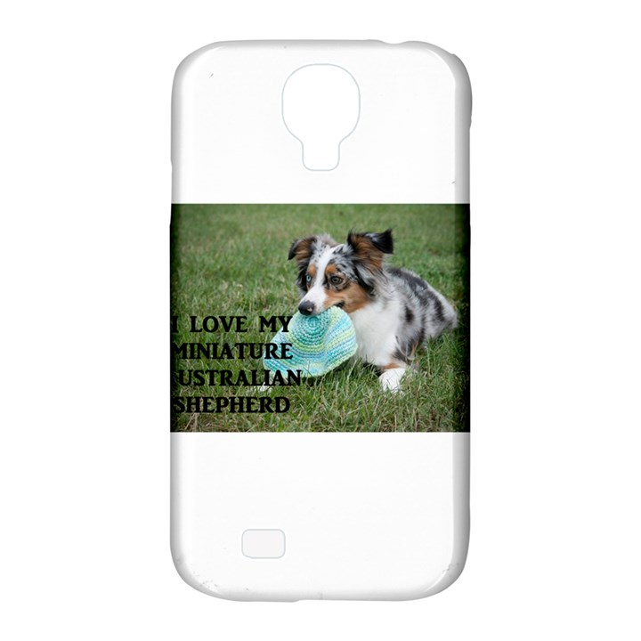 Blue Merle Miniature American Shepherd Love W Pic Samsung Galaxy S4 Classic Hardshell Case (PC+Silicone)