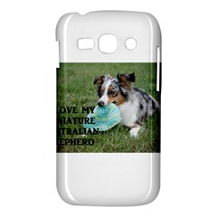 Blue Merle Miniature American Shepherd Love W Pic Samsung Galaxy Ace 3 S7272 Hardshell Case