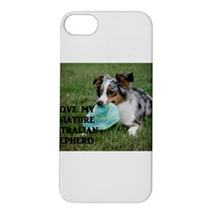 Blue Merle Miniature American Shepherd Love W Pic Apple iPhone 5S/ SE Hardshell Case