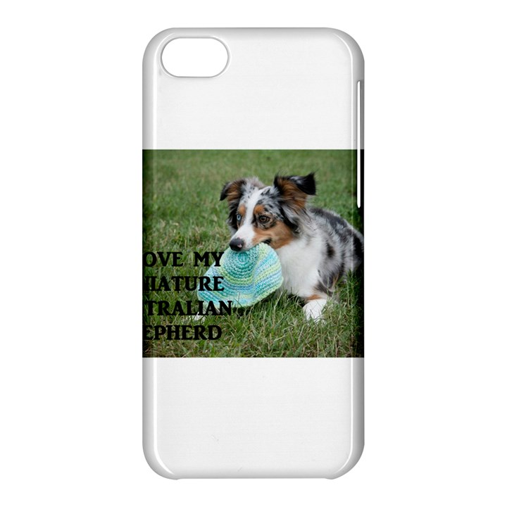 Blue Merle Miniature American Shepherd Love W Pic Apple iPhone 5C Hardshell Case