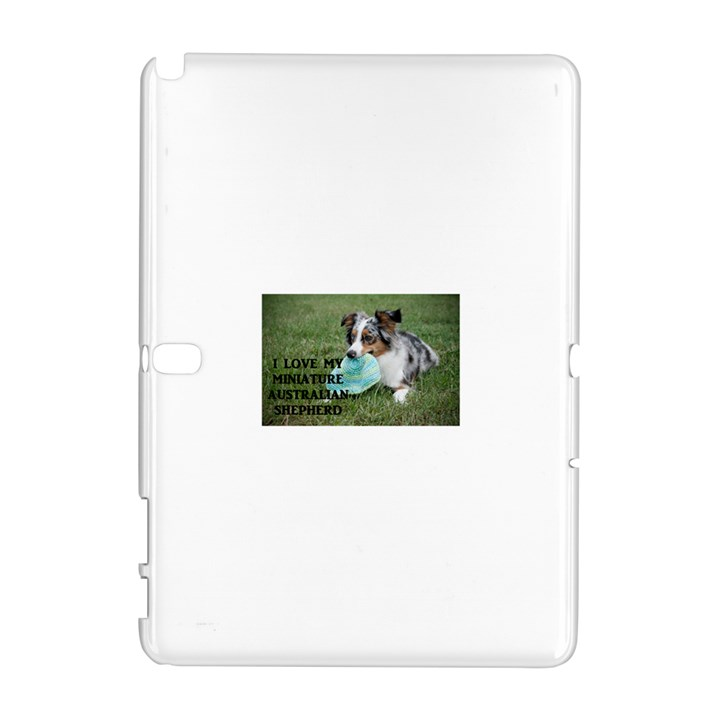 Blue Merle Miniature American Shepherd Love W Pic Samsung Galaxy Note 10.1 (P600) Hardshell Case