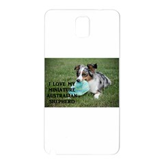 Blue Merle Miniature American Shepherd Love W Pic Samsung Galaxy Note 3 N9005 Hardshell Back Case