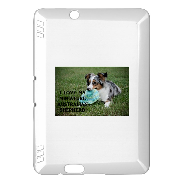 Blue Merle Miniature American Shepherd Love W Pic Kindle Fire HDX Hardshell Case