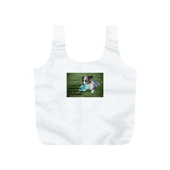Blue Merle Miniature American Shepherd Love W Pic Full Print Recycle Bags (S)