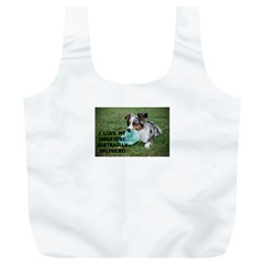 Blue Merle Miniature American Shepherd Love W Pic Full Print Recycle Bags (L)