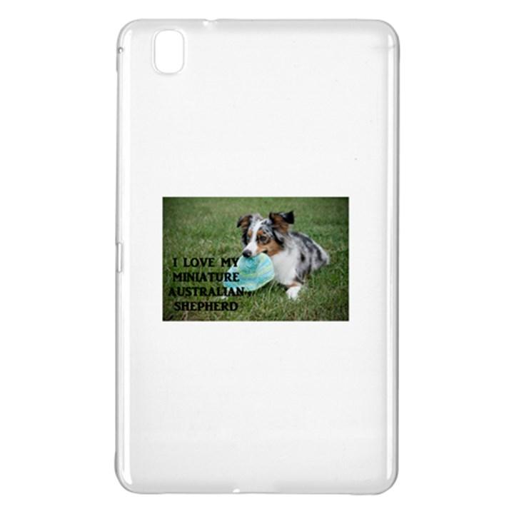 Blue Merle Miniature American Shepherd Love W Pic Samsung Galaxy Tab Pro 8.4 Hardshell Case