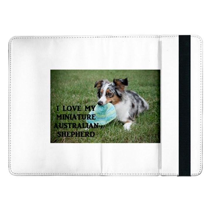 Blue Merle Miniature American Shepherd Love W Pic Samsung Galaxy Tab Pro 12.2  Flip Case