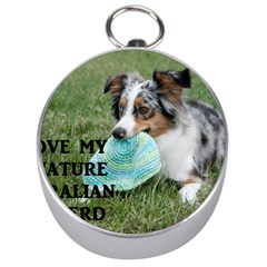 Blue Merle Miniature American Shepherd Love W Pic Silver Compasses