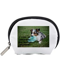 Blue Merle Miniature American Shepherd Love W Pic Accessory Pouches (Small)