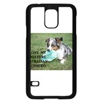 Blue Merle Miniature American Shepherd Love W Pic Samsung Galaxy S5 Case (Black) Front