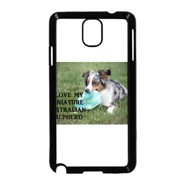 Blue Merle Miniature American Shepherd Love W Pic Samsung Galaxy Note 3 Neo Hardshell Case (Black)