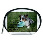 Blue Merle Miniature American Shepherd Love W Pic Accessory Pouches (Medium)  Front