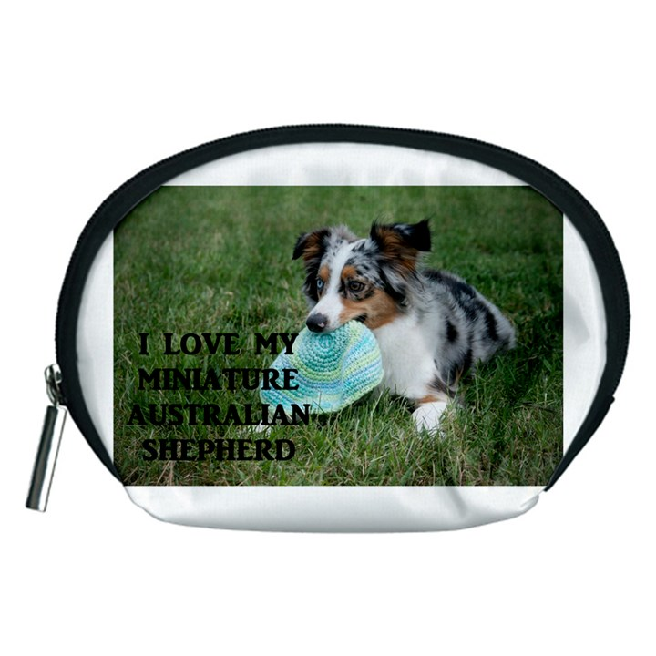 Blue Merle Miniature American Shepherd Love W Pic Accessory Pouches (Medium)