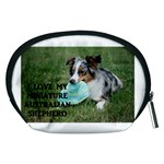 Blue Merle Miniature American Shepherd Love W Pic Accessory Pouches (Medium)  Back
