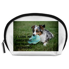 Blue Merle Miniature American Shepherd Love W Pic Accessory Pouches (Large)