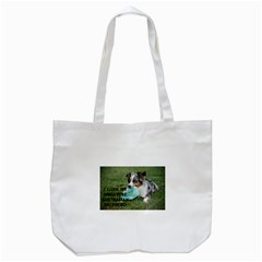 Blue Merle Miniature American Shepherd Love W Pic Tote Bag (white)