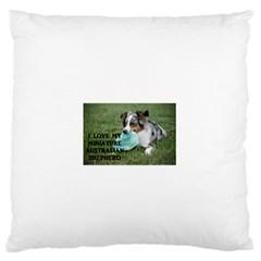 Blue Merle Miniature American Shepherd Love W Pic Standard Flano Cushion Case (One Side)