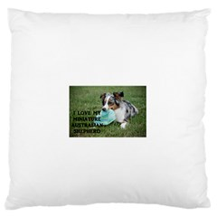 Blue Merle Miniature American Shepherd Love W Pic Standard Flano Cushion Case (Two Sides)