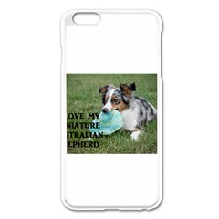 Blue Merle Miniature American Shepherd Love W Pic Apple iPhone 6 Plus/6S Plus Enamel White Case