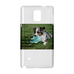 Blue Merle Miniature American Shepherd Love W Pic Samsung Galaxy Note 4 Hardshell Case