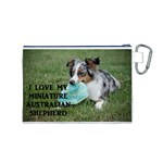 Blue Merle Miniature American Shepherd Love W Pic Canvas Cosmetic Bag (M) Back