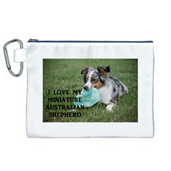 Blue Merle Miniature American Shepherd Love W Pic Canvas Cosmetic Bag (XL)