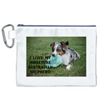 Blue Merle Miniature American Shepherd Love W Pic Canvas Cosmetic Bag (XL) Front
