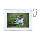 Blue Merle Miniature American Shepherd Love W Pic Canvas Cosmetic Bag (XL) Back