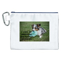 Blue Merle Miniature American Shepherd Love W Pic Canvas Cosmetic Bag (XXL)