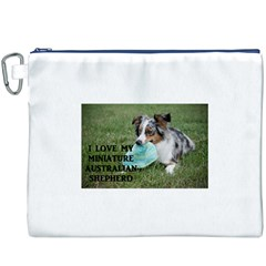 Blue Merle Miniature American Shepherd Love W Pic Canvas Cosmetic Bag (xxxl)