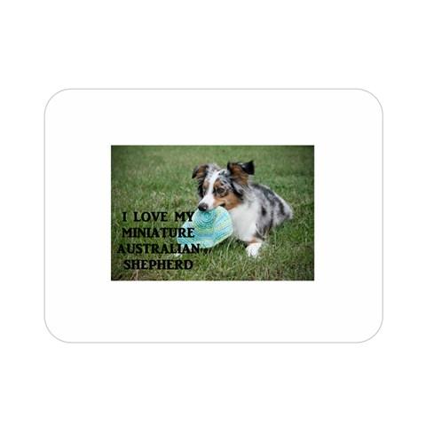 Blue Merle Miniature American Shepherd Love W Pic Double Sided Flano Blanket (Mini)